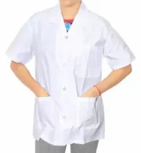 Pure Cotton Shirt White Half Sleeves Medical Apron