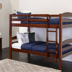 Brown Sheesham Wood Bunk Bed, Dimension: 38 x 82 x 60 inch