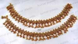 Golden Wedding Wear,Party Wear Charming Stone Anklets