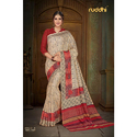 Ladies Silk Printed Banarasi Saree, Length: 5.5 M