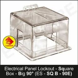 Electrical Panel Lockout Square Box - Big 90 Degree
