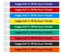 Wristbands for Holi