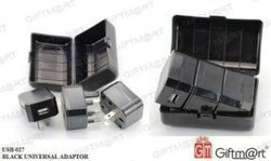 Plastic Black USB Travel Adapter with Case, Model Number/Name: Usb-027