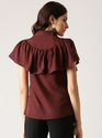 Female Maroon Solid Shirt