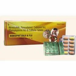 Nimesulide Paracetamol Cetirizine Hcl Phenylephrine Hcl And Caffeine tablet
