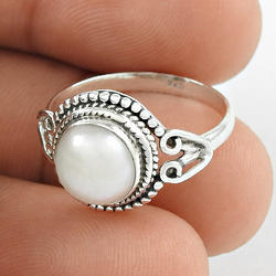 Loving Gift Design 925 Sterling Silver Pearl Ring