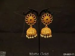 Kemp Stone Jhumki Earrings