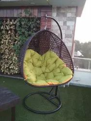 Garden Rattan Vertical Swing With Stand