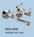Brass, Stainless Steel Wall Mixer Telephonic With Crutch