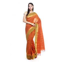 Casual Wear Printed Ladies Cotton Saree, 6.3 M (with Blouse Piece)