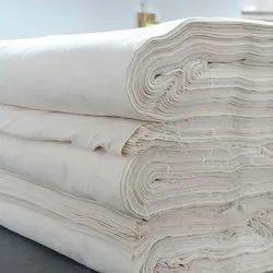 Handmade Cotton White Grey Fabric