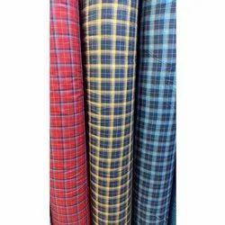 54 Inch Mens Check Cotton Shirting Fabric, GSM: 200- 250 GSM