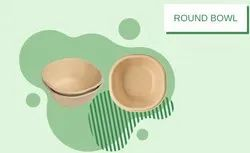 Round Shape Bagasse Disposable Bowl