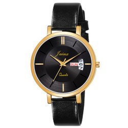 Jainx Black Day And Date Functioning Analog Watch For Women's - JW 1207
