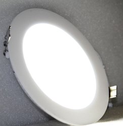 Aluminum Rayna 12watt LED Round Panel Light