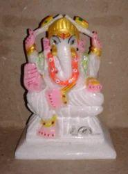 White Marble Ganesh Murti