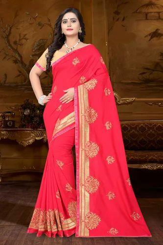 f0257e3b3c Embroidered Designer Heavy Georgette Saree, Rs 799 /piece | ID ...