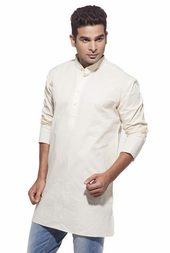23b354618f51de Dennis Morton Cream Men's Cream Casual Starch Cotton Kurta, Rs 626 ...