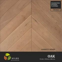 Oak Chevron Wooden Flooring