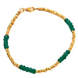 Green Onyx Nuggets Bracelet