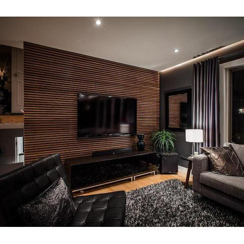 Brown Pvc Wall Panels For Living Room Rs 60 Square Feet Galaxy Interiors Id 18110190188
