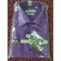 Mens Purple Plain Shirt