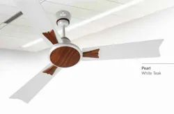 Pearl White Teak Ceiling Fan
