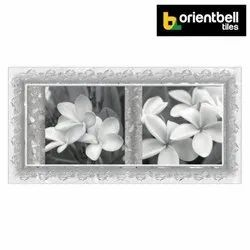 Orientbell SDH Plumeria Flower HL Decorative Wall Tiles, Size: 300x600 mm