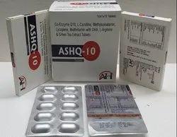 Co-enzyme Q10 Ash Q-10 Tablet, 10x1x10, Prescription
