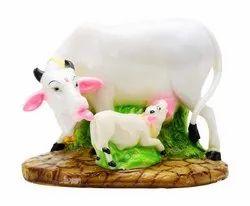 Kesar Zems White Cow and Calf