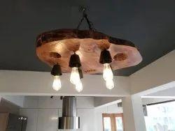 wild edge LED wooden chandelier