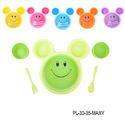 Kids Plate Smiley Face Shape Dish Mac Doodle Plate-PL-30