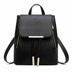 PU Leather Plain Black Desert Queen Bag