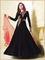 Faux Georgette Embroidered Party Wear Anarkali Suit