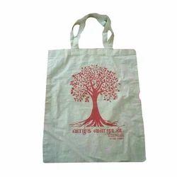 White Handle Cloth Bag, Size: 11x12