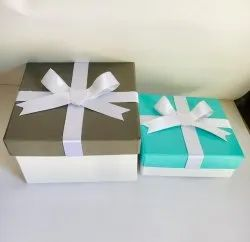 Grey And Sky Blue Gift Box