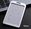 Metal Id Card Holder Pack Of 10 Silver Color