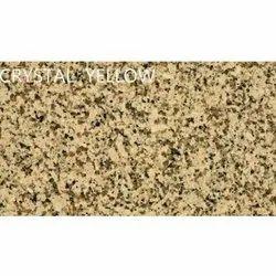 Crystal Yellow Granite Slab, Thickness: 15-20 mm