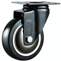 Medium Duty PU Caster Ball Bearing Wheels, Size: 100 X 32 Mm