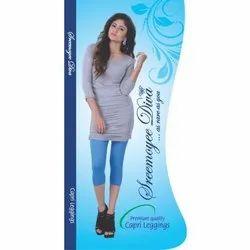 Sreemoyee Diva Cotton Lycra Ladies Capri Legging, Size: Free Size