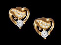 Sparkling Heart Stud Earrings