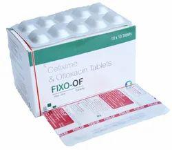 Fixo-OF Cefixime Ofloxacin Tablet, Packaging: Alu - Alu
