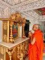 FRP Temple Singhasan