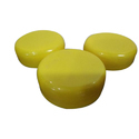 Yellow 63mm Plastic Dome Cap, Packaging Type: Sack