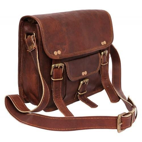 6450313f38e0 15.6 Inches Pranjals House Leather Stylish Shoulder Messenger Bag