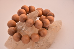Round sandalwood prayer mala