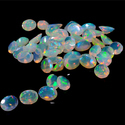 Brilliant Round Shape Natural Australian Opal Loose Gemstone