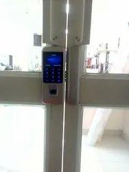 Metal Frame Glass Door Lock