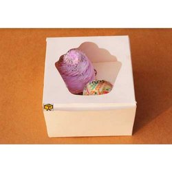 2 Cavity White Muffin Window Cupcake Box