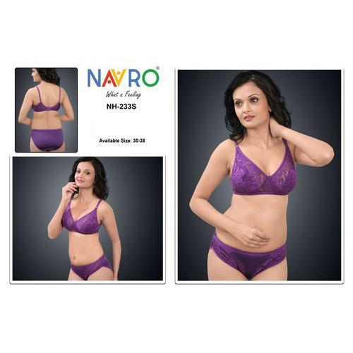 Purple Navro Stylish Bra Panty Set fb0b8826f